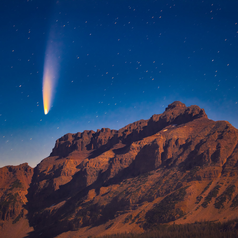 Neowise comet with hayden peak asf hig5ud