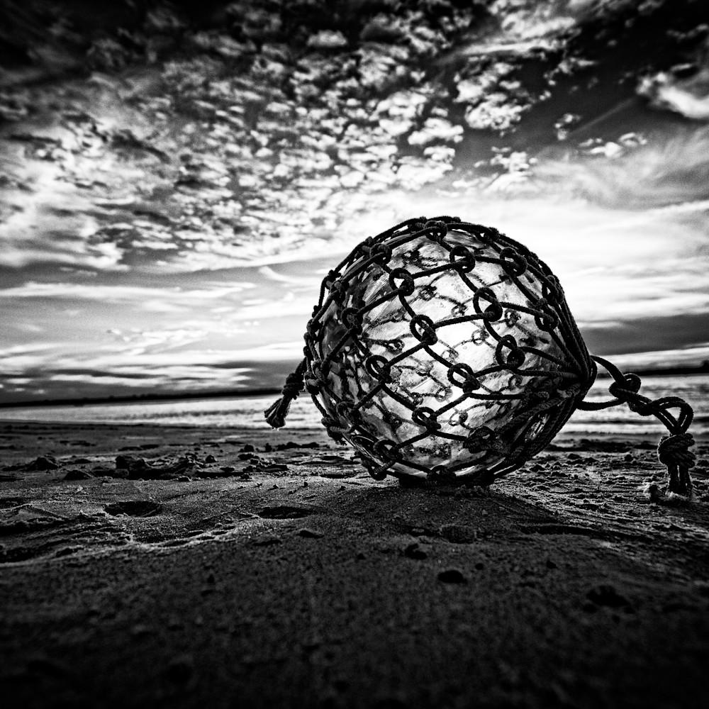 Glass fishing net float photograph wnvoqr