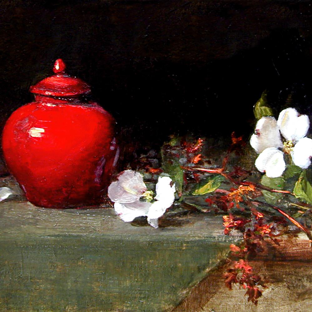 Red vase dogwood print 6000 gaswlo