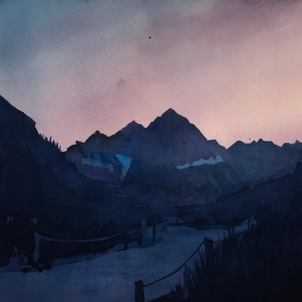 Mt aspen maroon bells dusk p74ok1