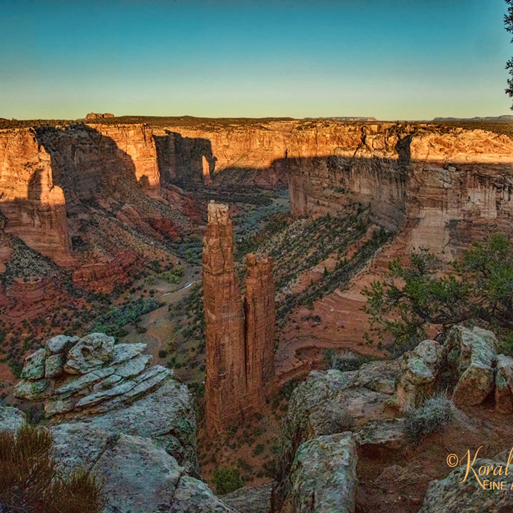 Sunsetting canyon de chelly twin towers3415 koral martin qlb2va