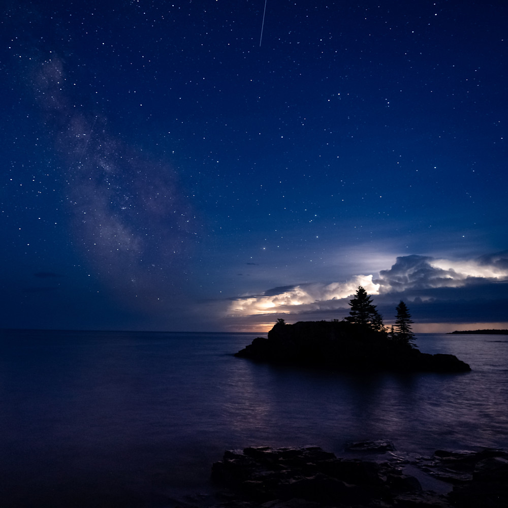 Jupiter the milky way meteors and a thunderstorm at hollow rock mkbxs9