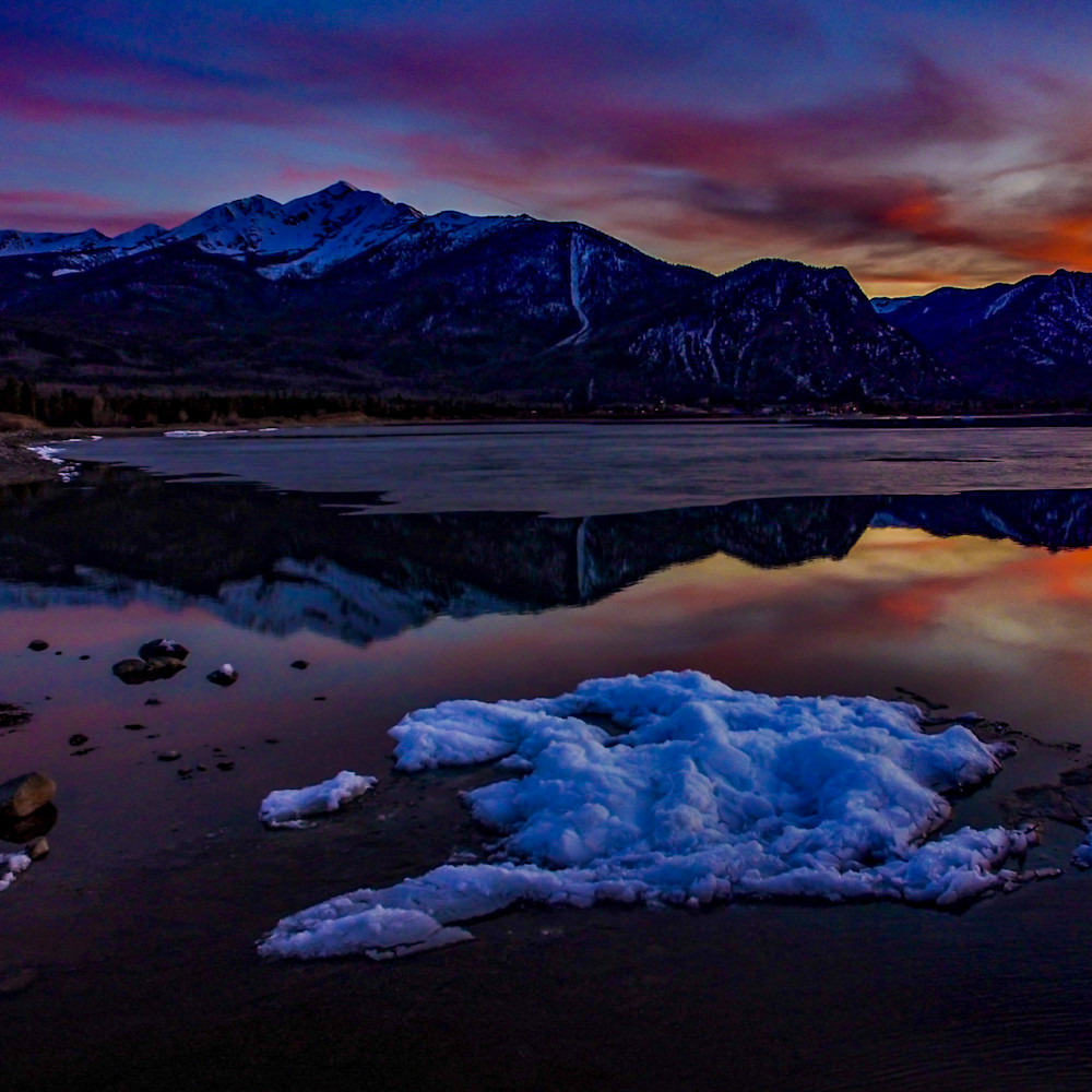 Lake dillon sunset 2x3 print bal8cn