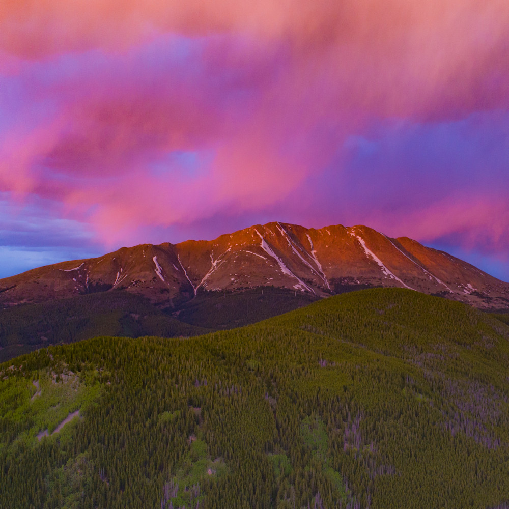 Baldy sunset 2x3 print klmivo