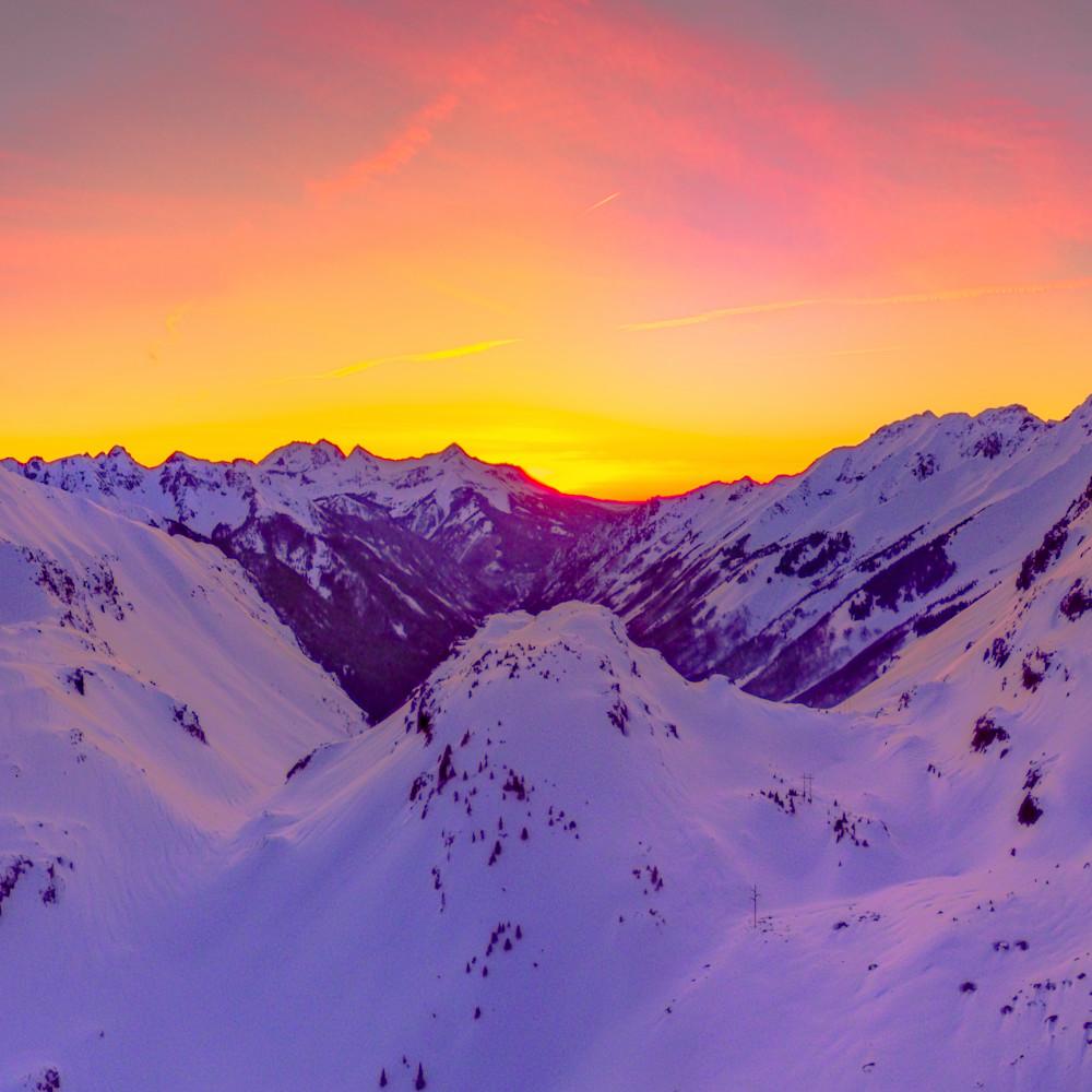 Ophir pass sunset 1x3 print ywwsaa