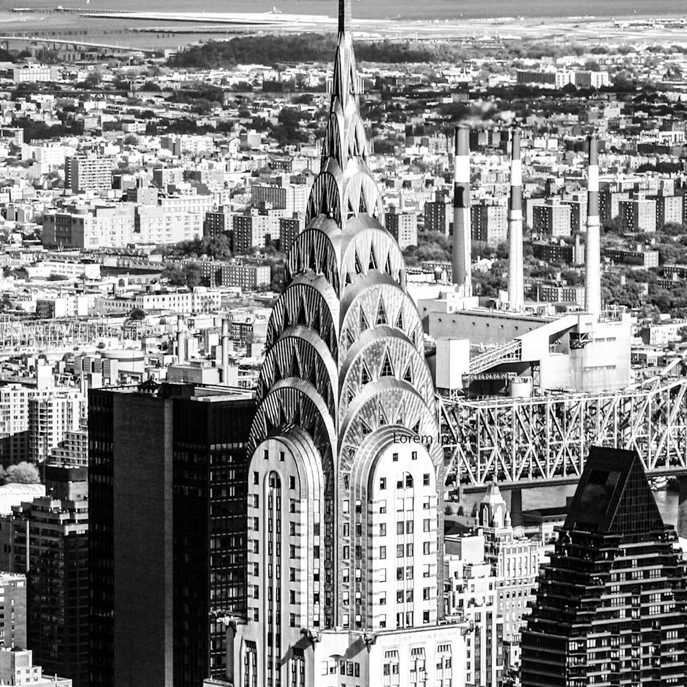 Chrysler building bw y1qpqn