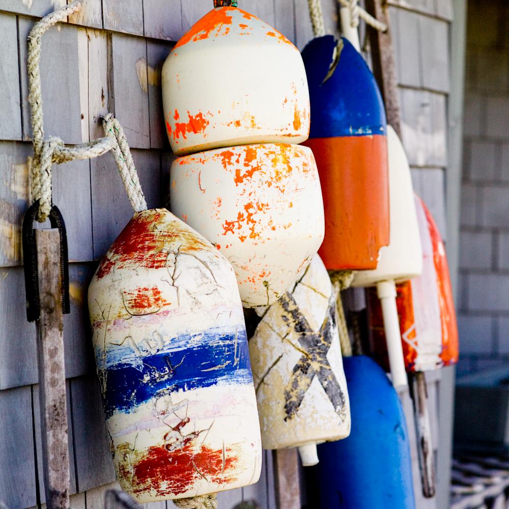 Crab pot buoys still life ddxio8