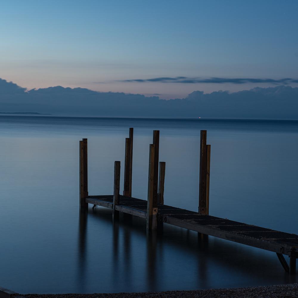 Lake michigan nightfall gk7xpg