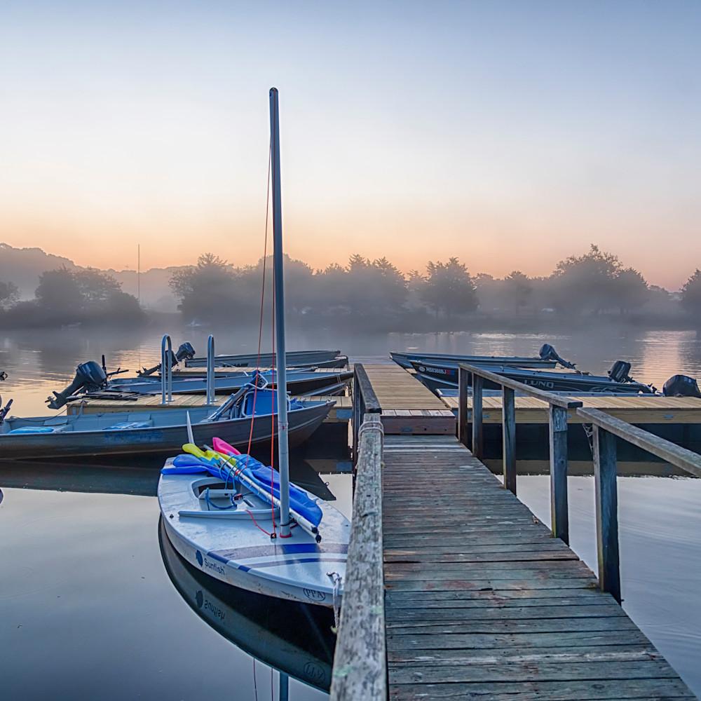 Great tisbury pond late summer fog wksuyk