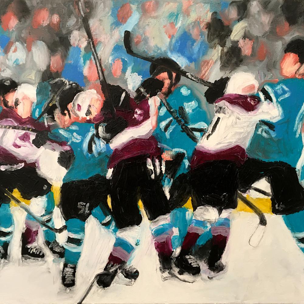 Gettingchippy sharksavs  hockey painting michael serafino wetpaintnyc gallery oowvg1