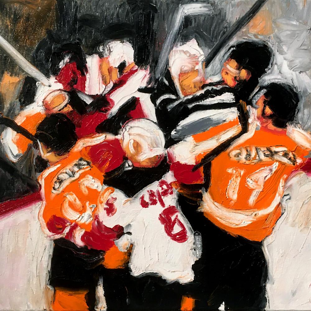 Flyers scrap hockey painting micheal serafino wetpaintnyc gallery vhmnam