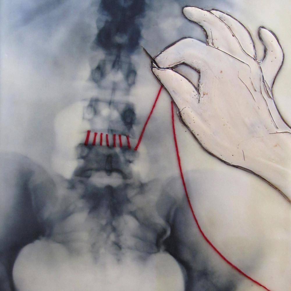 Bridget benton backbone encaustic 9x12 sold svuliz