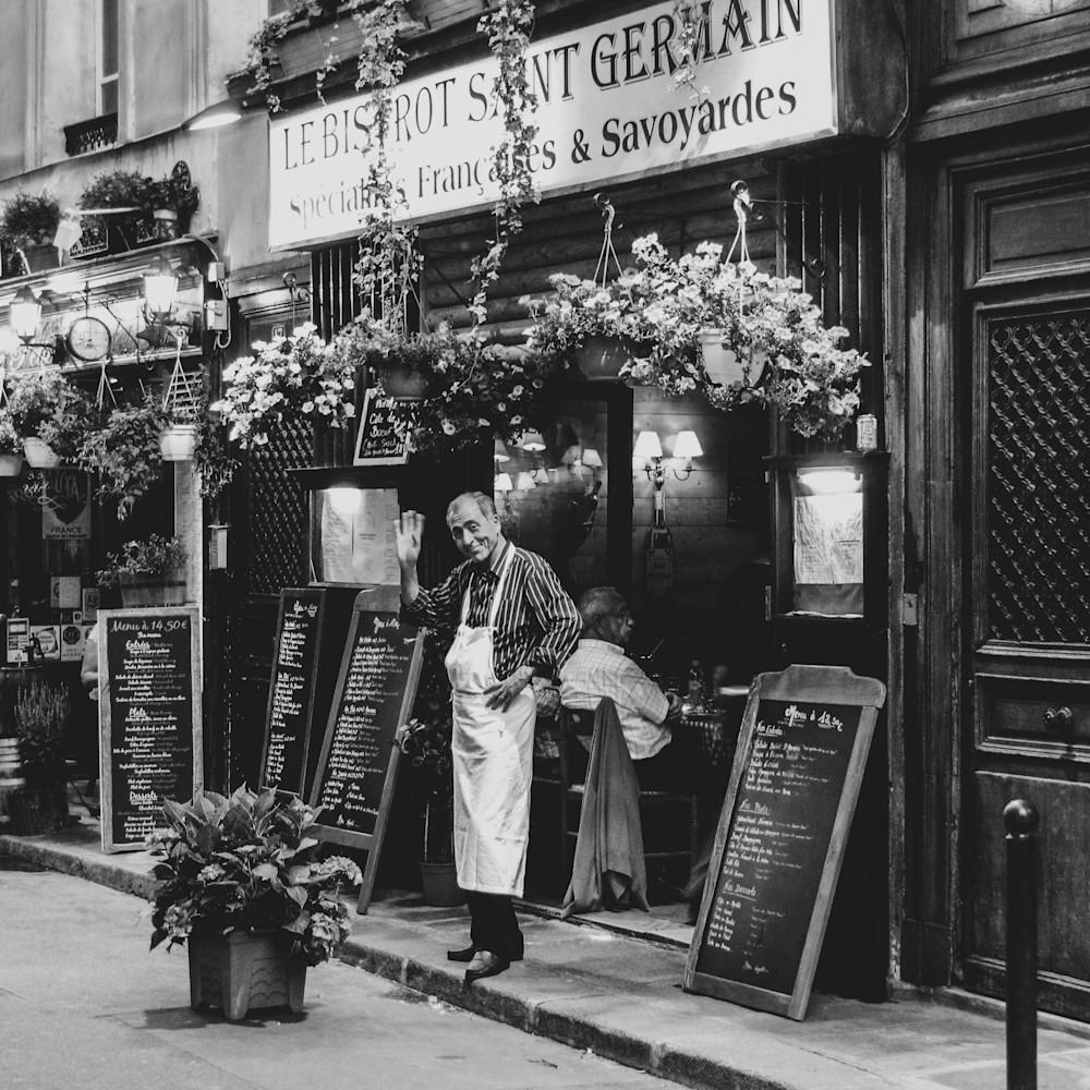 40x30 parisien waiter b w  ziifnx
