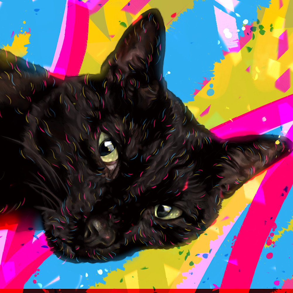 2020 10 14 digital drawing commission pieczynski cat portrait mowgli jpeg version paqiqi