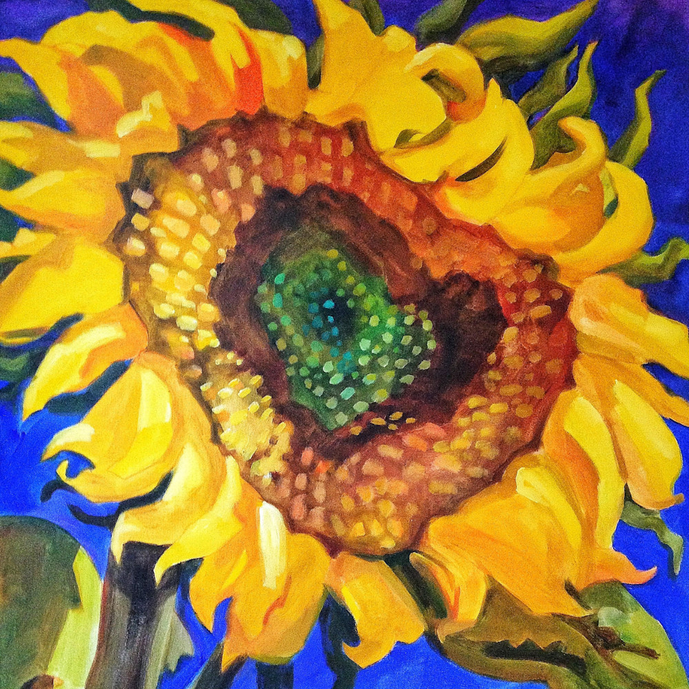 Hidden heart sunflower hhzmmm