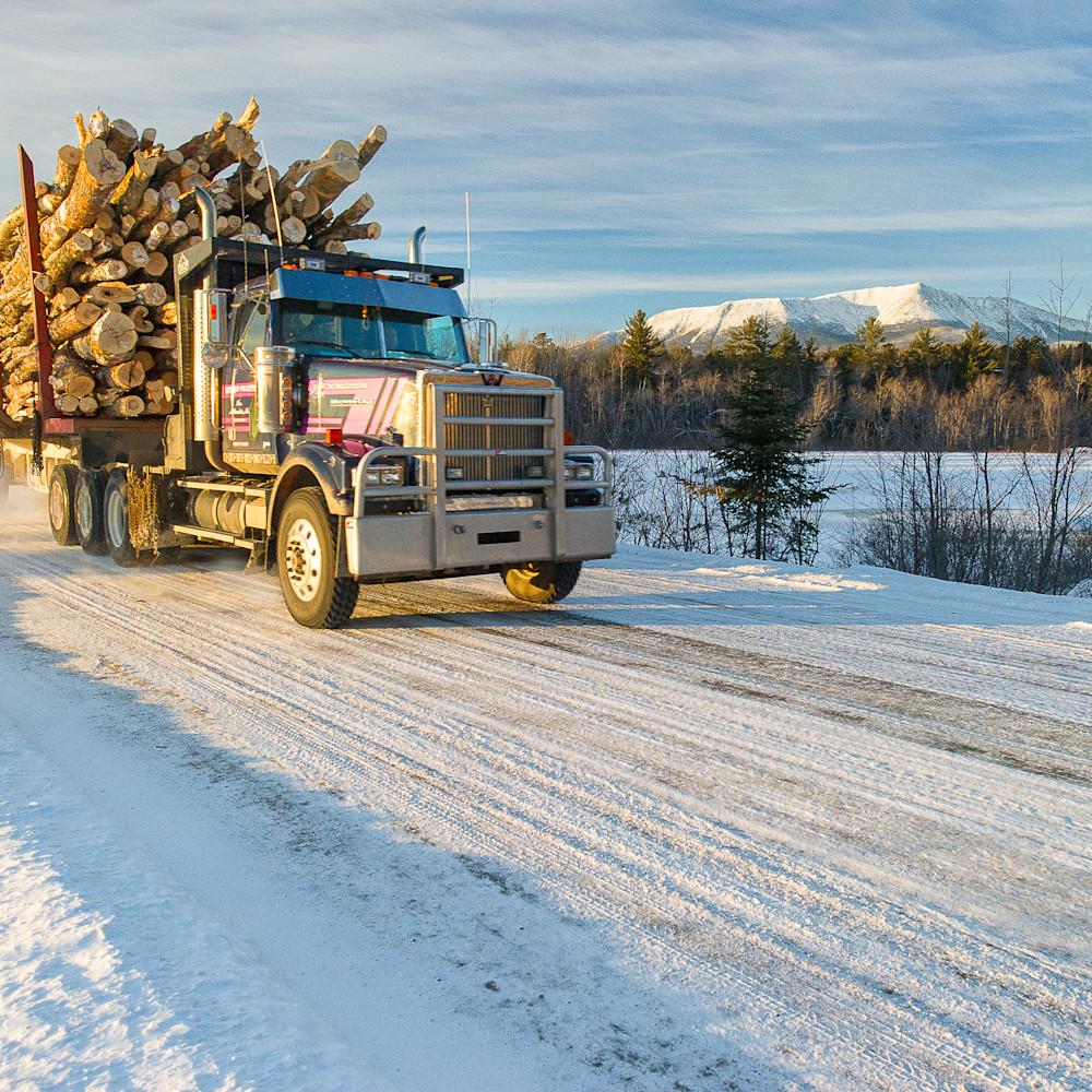 Logging truck mt katahdin in winter zjgoni