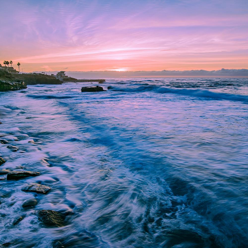 La jolla cove with nikon d750 panoramic blue choppy waters e0vcul