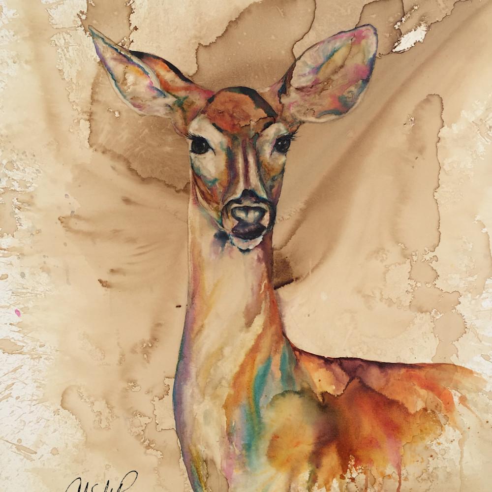 Doe deer signed pudyen
