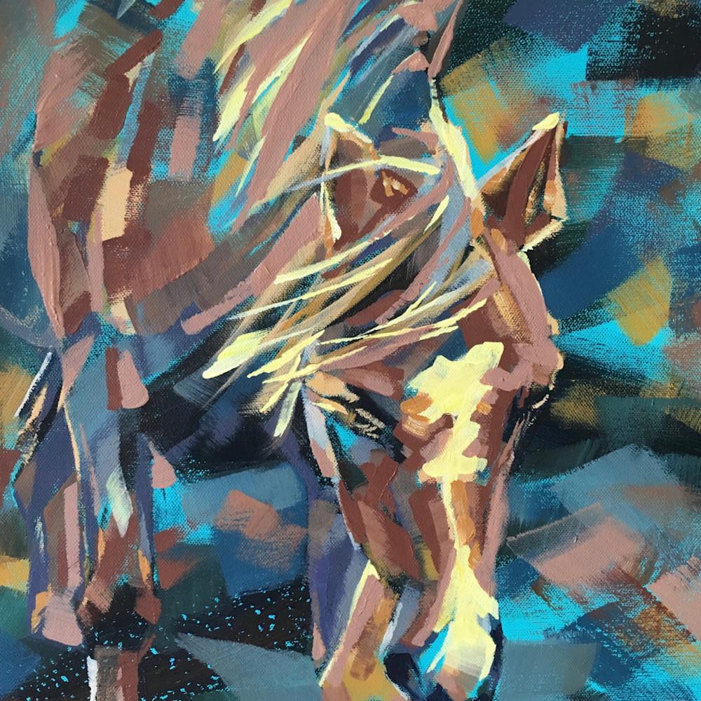 Wild welsh pony print saqc2l