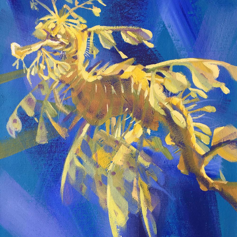 Leafy seadragon print wa5hwz