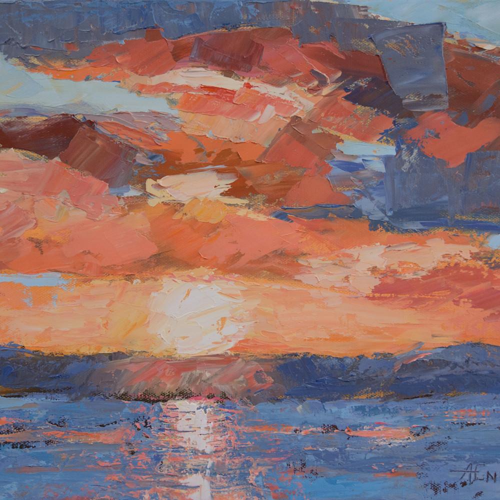 Engle westside sunset 12x16 pimu38