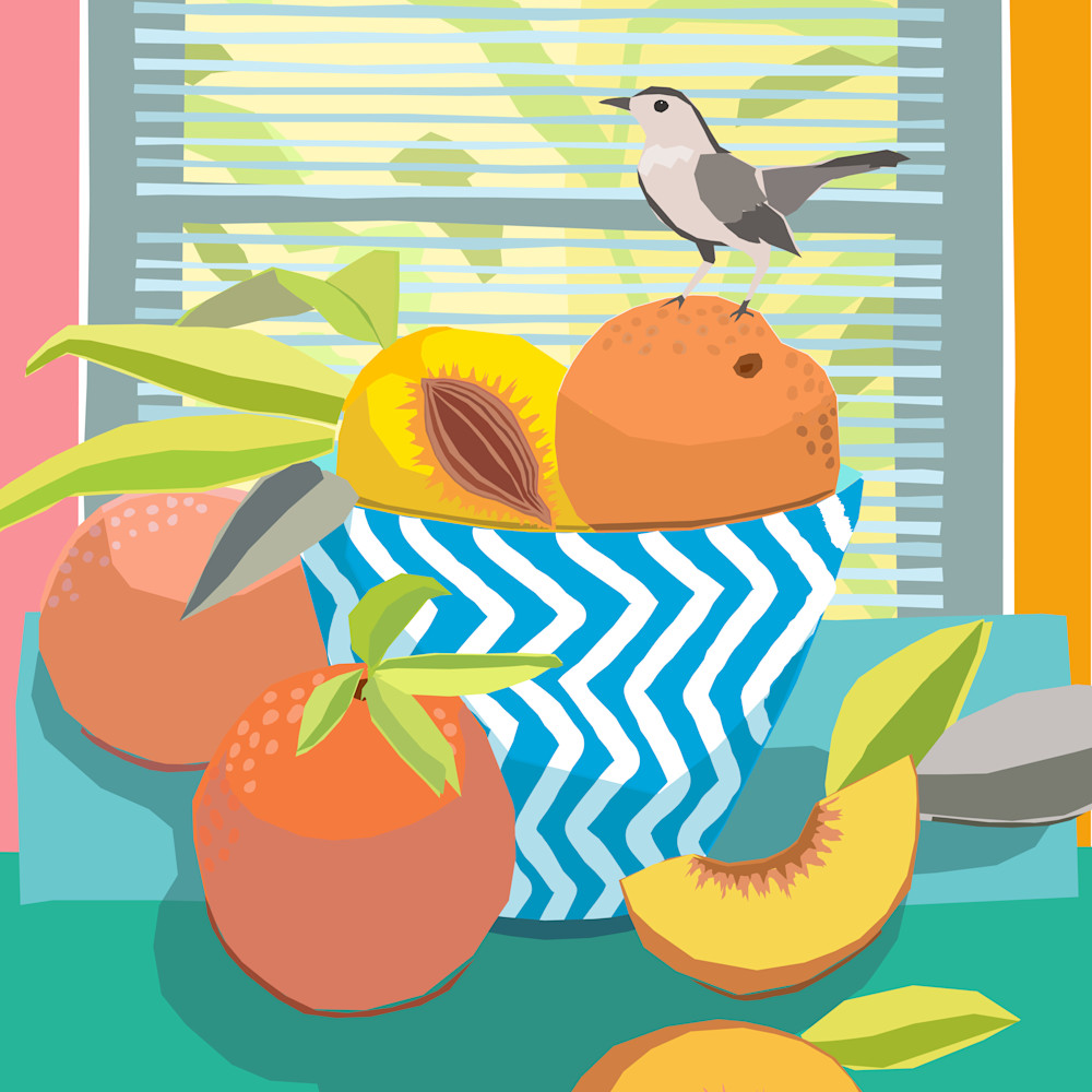 Still life with peaches by andrew daniel o3aoyq