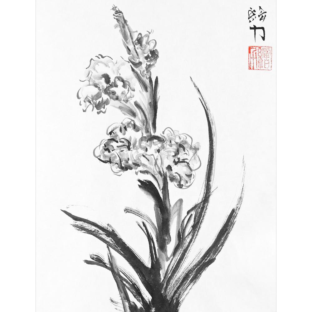 Hombretheartist sumie flower 3 forprint 120619 areigo
