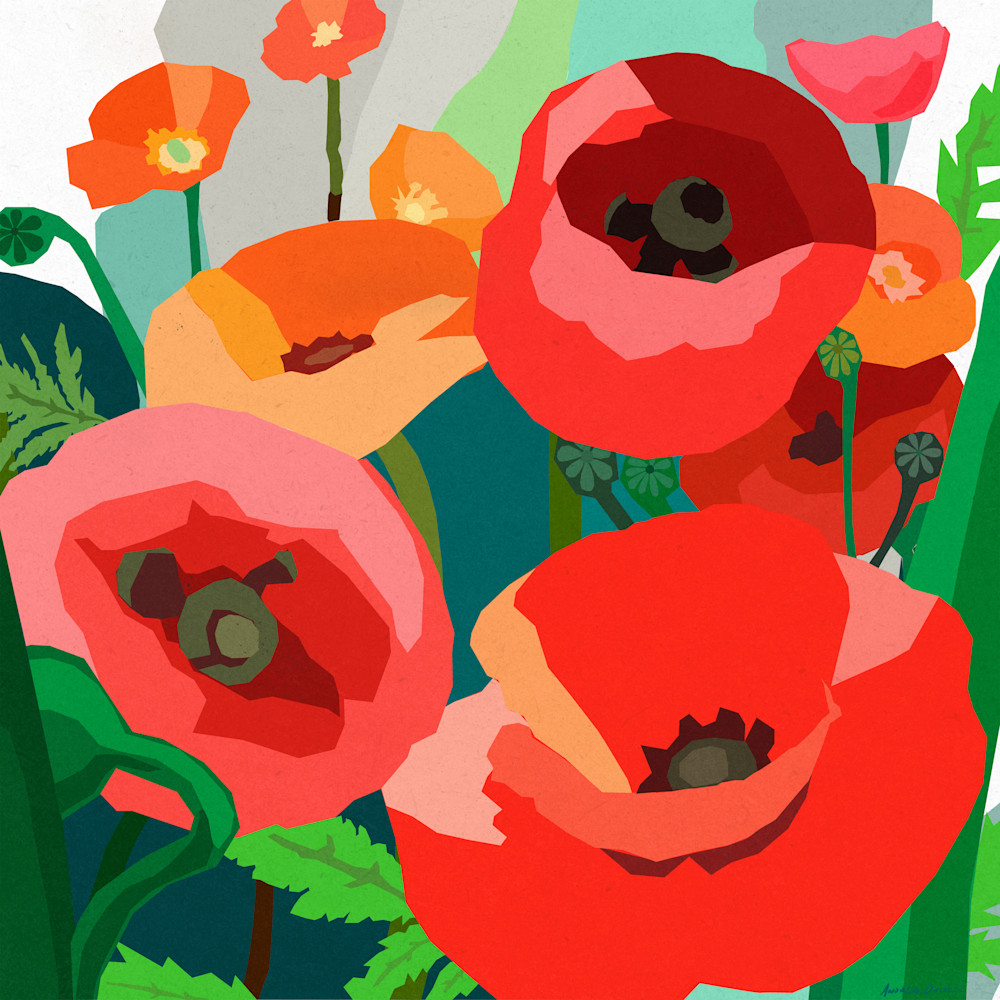 Red poppies by andrew daniel xi4gmf