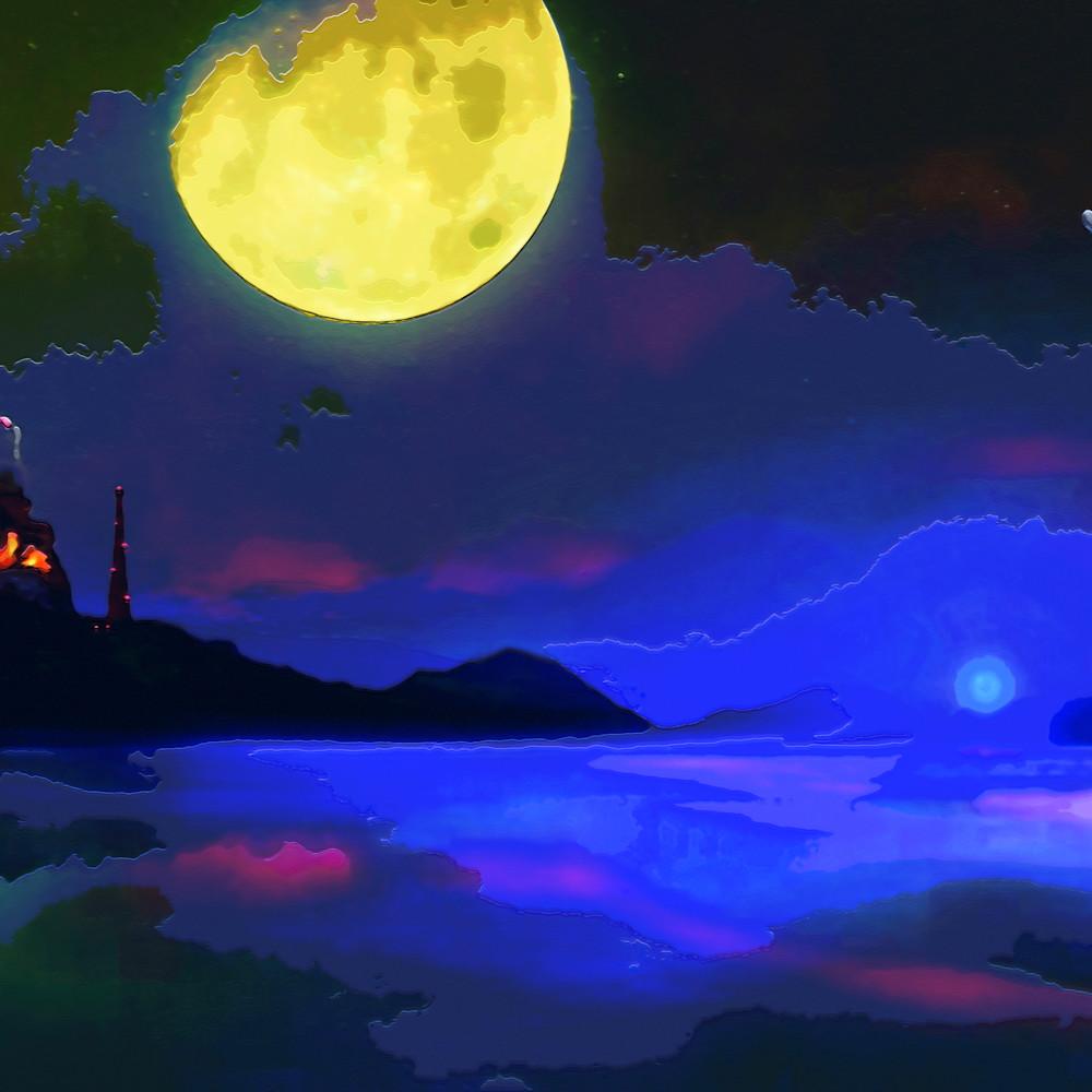 Green moon planet  bpg2yj