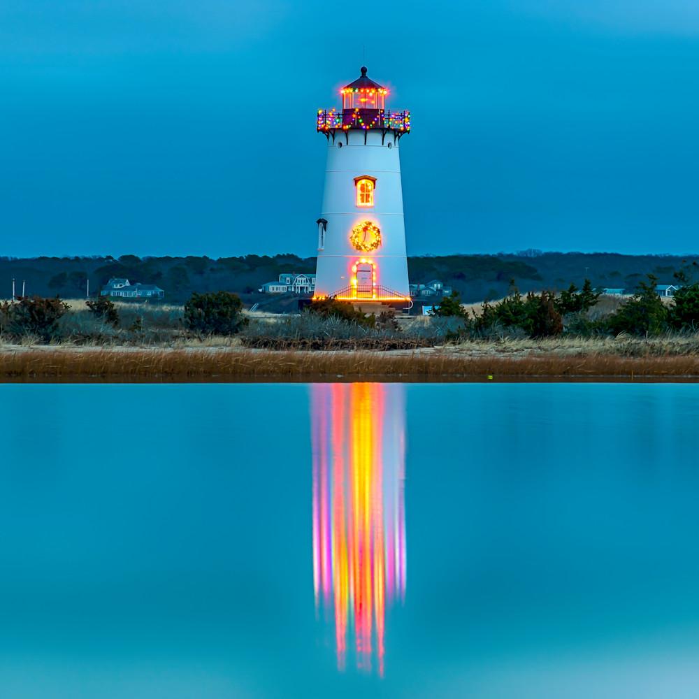 Edgartown light christmas light reflections 1 csc62m