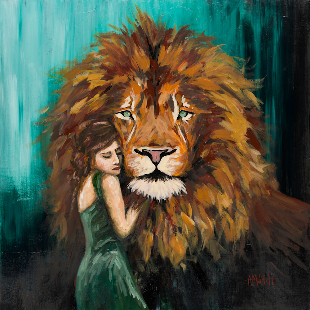 Large lion and lady cropped moeu5y