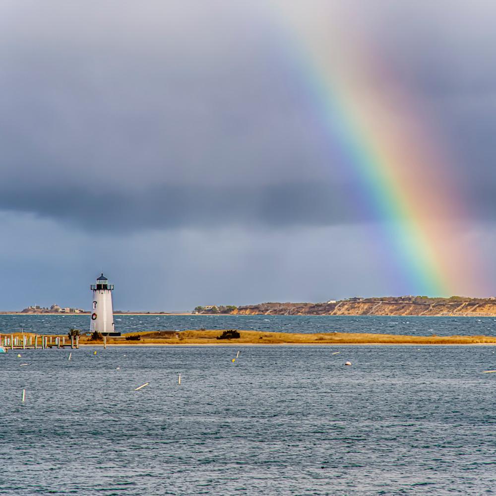 Edgartown light winter rainbow 1 b5zdzy