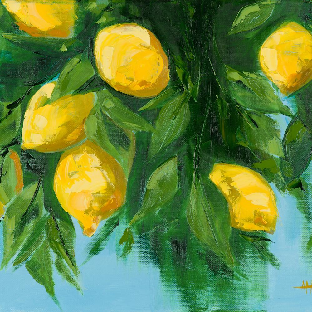 Large lemons palette knife 20 x 16 lnrxad