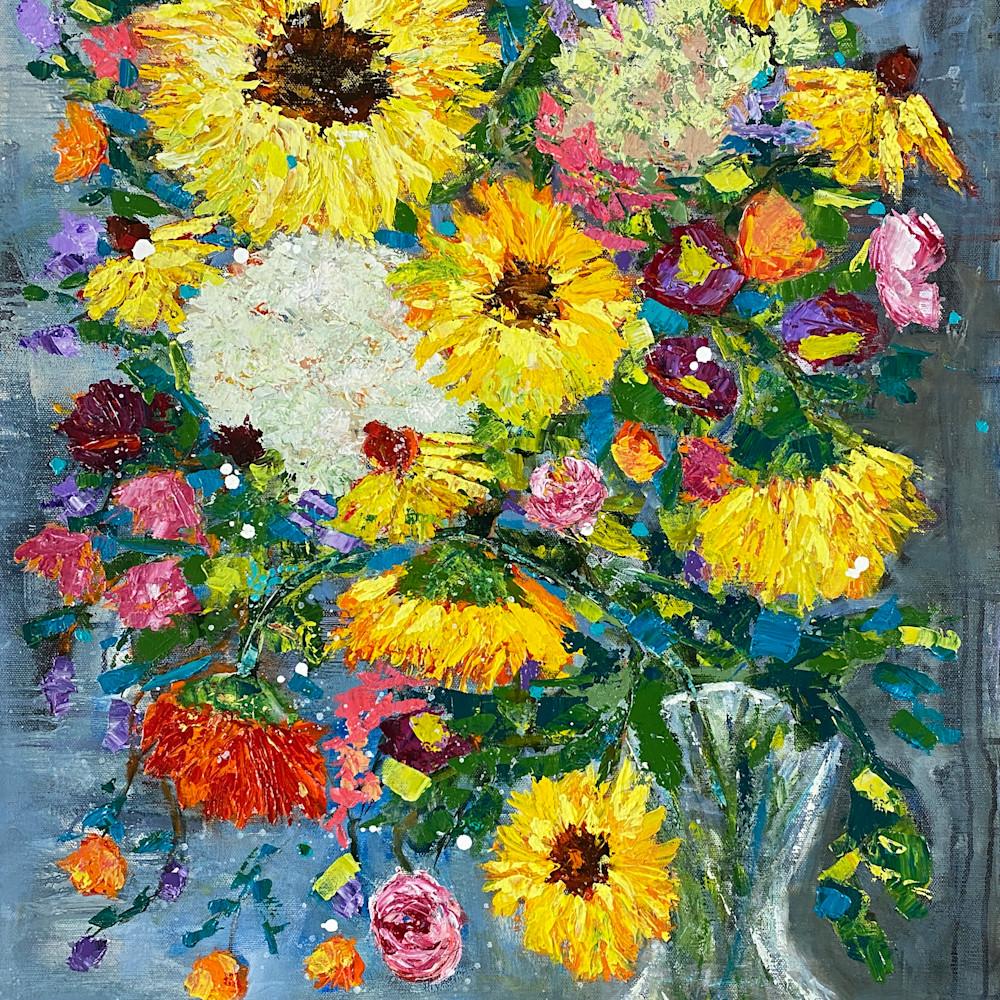 Summer blooms print lzbkdg