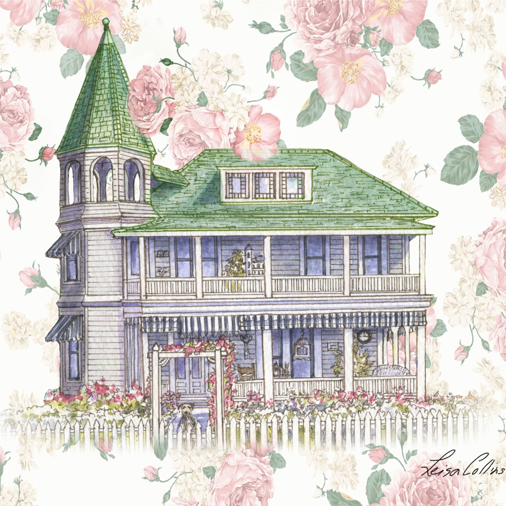 Crop victorian rose home collage   architectural collage art ehvxov