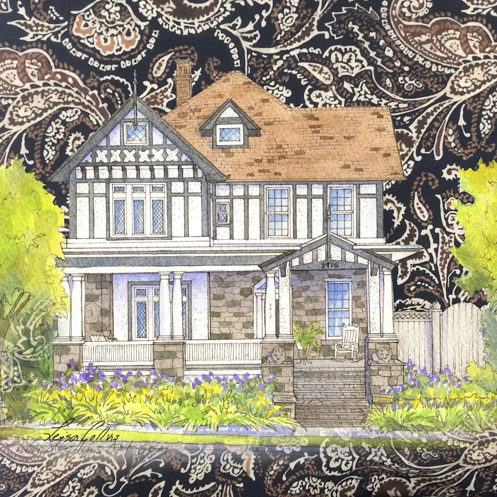 Crop time honored tudor on silk collage   architectural collage art juojwn