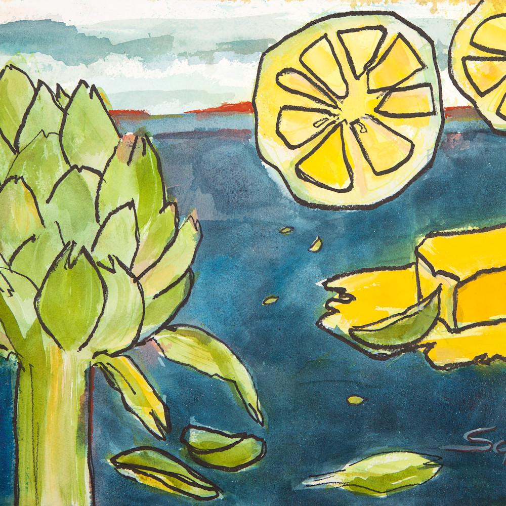 Artichoke with butter and lemon fwykje