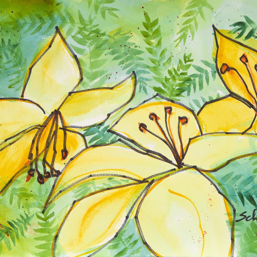 Yellow lillies qsqffm