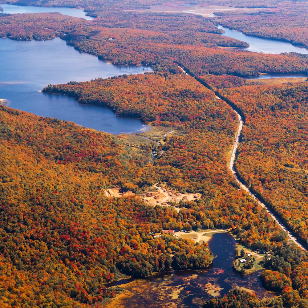 Evergreen lake peisico lake fall aerial c9od7s