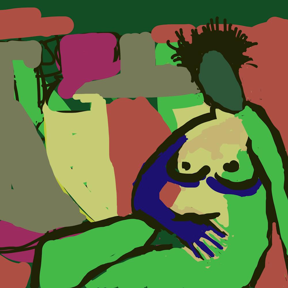 Green nude pqourt