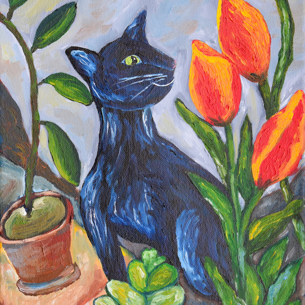 Cat and tulips edit full file p6cwzj