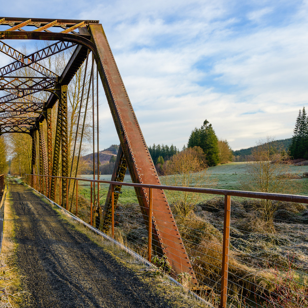 Steel railroad bridge willapa hills state park trail washington 2021 htzpyg