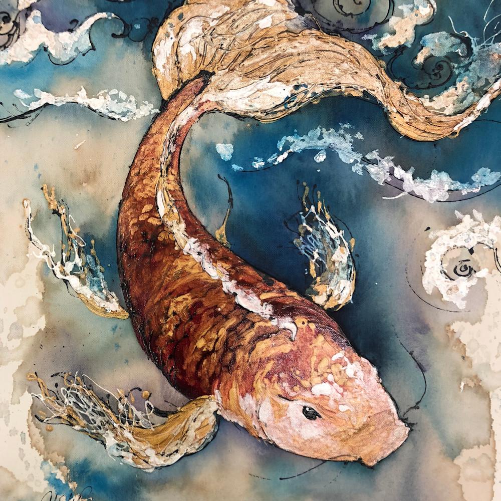 Orange koi fish m5wqnc