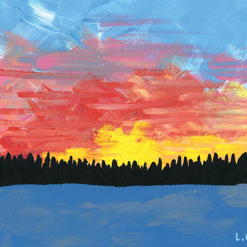 A painted sky weueqk