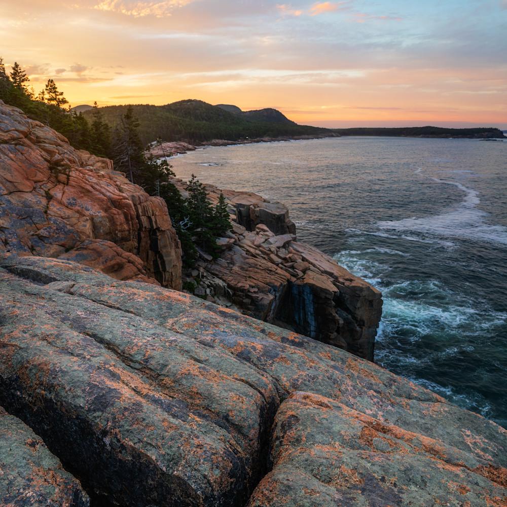 Otter cliffs sunset 1 pi2zxu