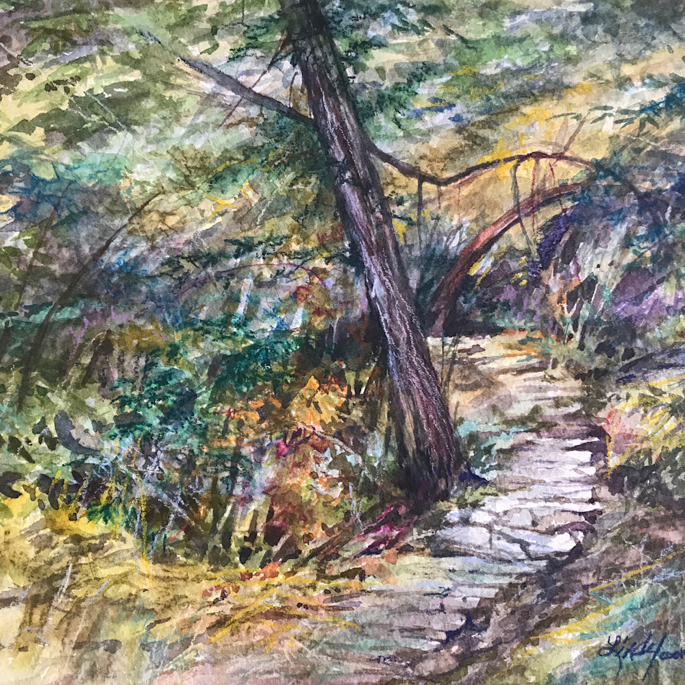 The path time forgot 8x10 watercolor lindy cook severns 2g lvvr87