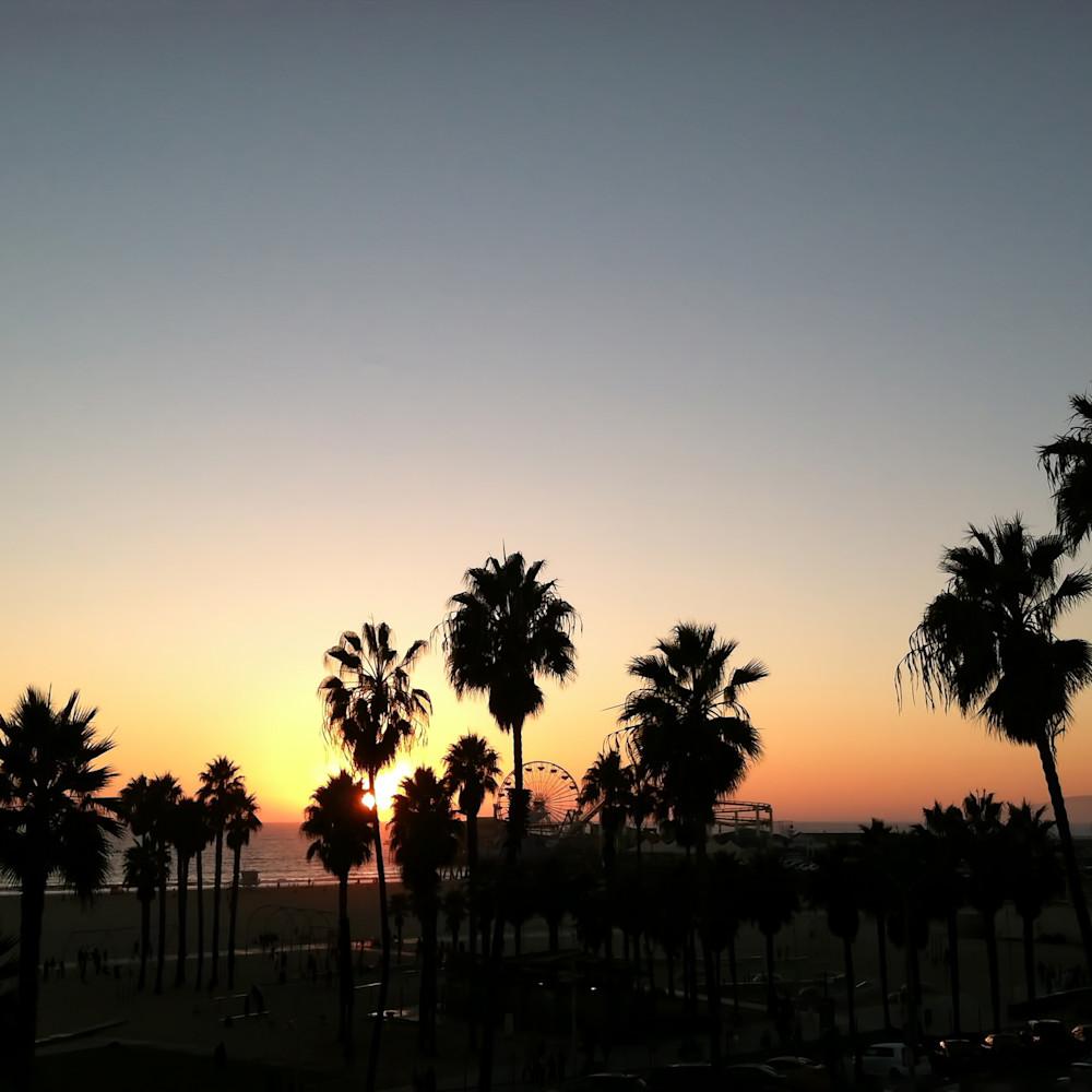Santa monica sunset dyjkpp