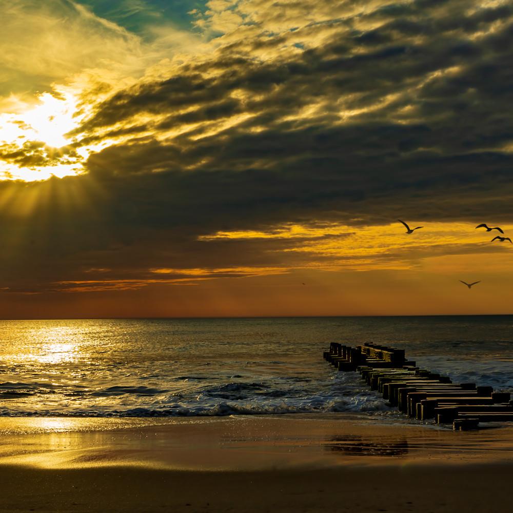 Sunrise and sunrays over rehoboth beach 1 of 1 fbftne