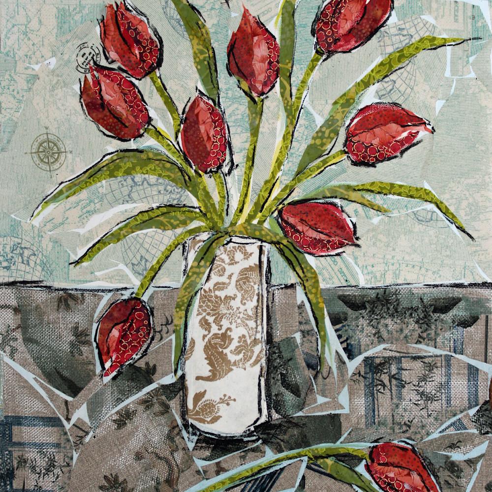 Tulips print qu7217