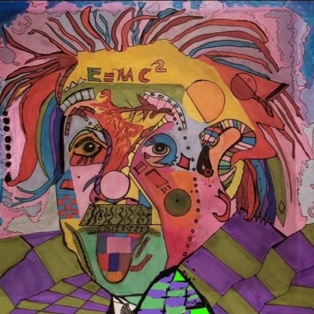 Einstein abstract zsqo7d